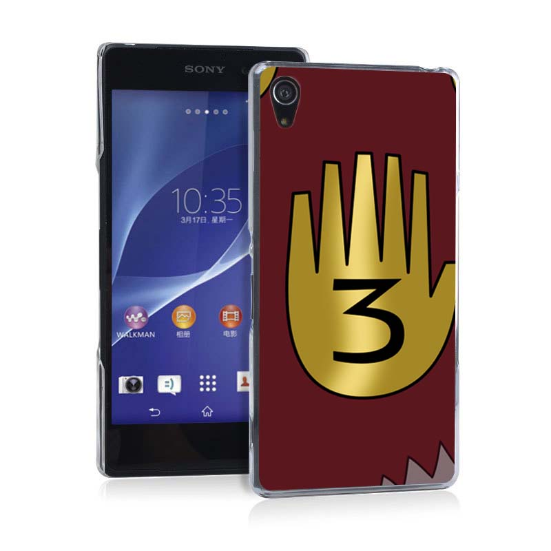MaiYaCa Gravity Falls book fashion original.png Hot Sale Fashion Plastic Print Shell Mobile Case For Sony Z2