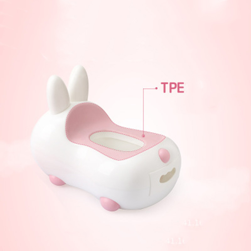 Baby Portable Potty Multifunction Infant Toilet Car Potty Child Cute Rabbit Pot Training Girl Boy 2 in 1 Potty Kids Chair Toilet