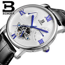 Genuine Bingo BINGER watch men's automatic mechanical watch male watch flywheel watch waterproof flagship store