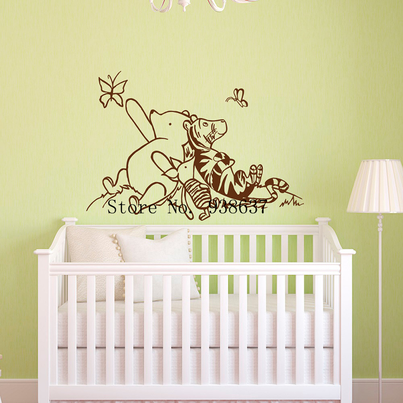 Winnie The Pooh Wall Decals Nursery Classic Winnie The Pooh Piglet Tigger Wall  Decal Kids Baby
