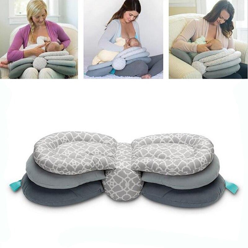 купить Smart Nursing Pillow Newborn Baby Breastfeeding Head Protection Adjustable Mother Feeding Cradle Boppy Pillows for Baby Mother по цене 2284.04 рублей