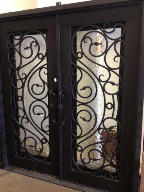 Custom design iron door steel door single iron door2 in for Door design steel