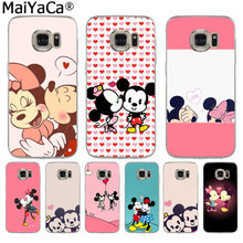 MaiYaCa Mickey Minnie Mouse Pattern Luxury Shell Original Case for Samsung S3 S4 S5 S6 S6edge S6plus S7 S7edge S8 S8plus(China)