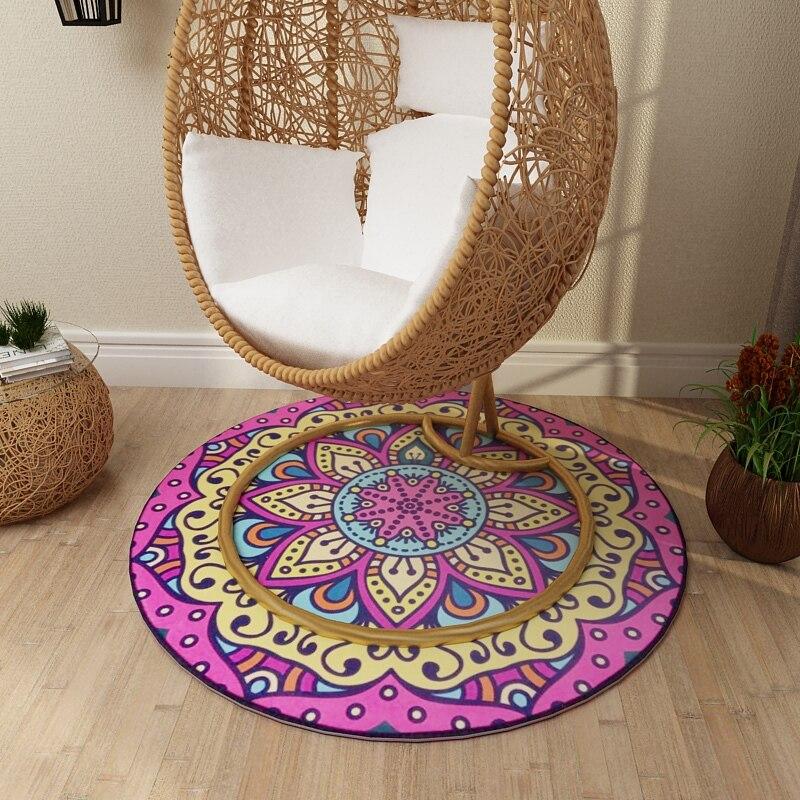 Vintage Round Creative Carpet Bedroom Living Room Home Supplies Floor Mats
