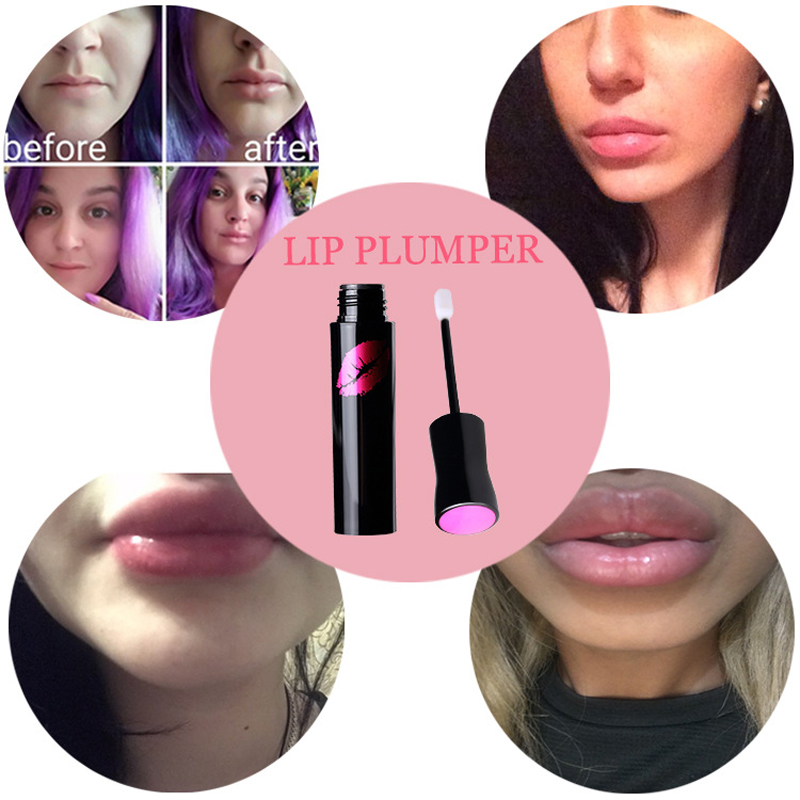 LANBENA Brand 4ml Collagen Lip Plumping Gloss Moisturizer Lip Skin Care Essence Anti Aging Anti-Wrinkle Lip Plumper Liquid Serum