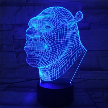 Cool Baby Led Nightlight Film Shrek Night light for Children's Bedroom Atmosphere Acrylic Laser Usb Led Night Lamp Shrek for Kid shrek the musical blackpool