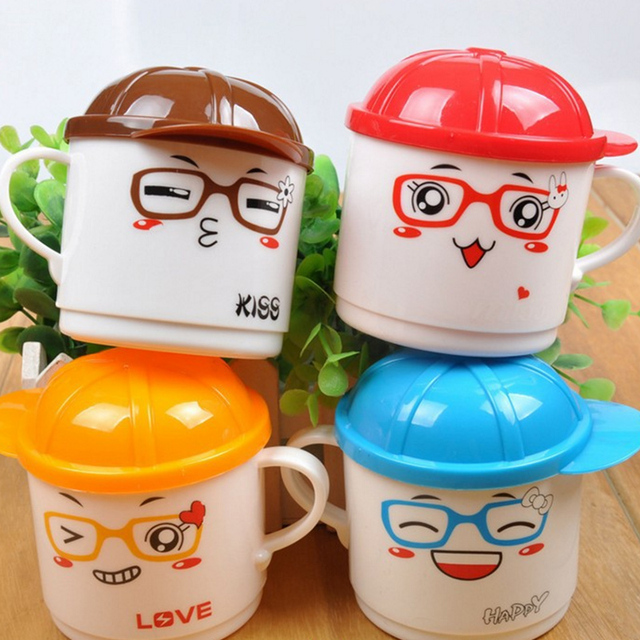 1Pcs 200ml Infant Baby Feeding Cup Milk with Handle Children Cute Cartoon Animal Baby Kids Tea Cup Kids Learning Cup