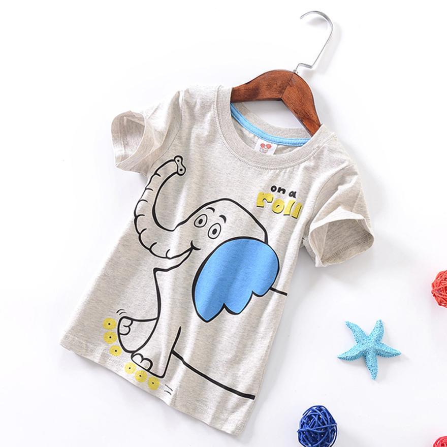T-Shirt Blous Tops Short-Sleeve Toddler Baby-Boys-Girls Kids Cartoon Summer 15