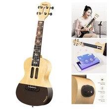 """Populele U1 23"""" Smart Concert Ukulele Guitar Bluetooth Acoustic Electric Soprano Ukulele Uke Kit Guitar of Xiaomi LED APP Phone"""