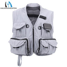 New Men Fishing Vest Light Fishing Suit Multi-pocket Fly Fishing Outdoor Jacket for Hiking Boating Fishing Asseccerioes