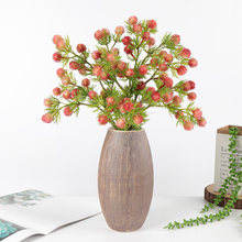 1pcs 56CM single branch Artificial flower plastic fire dragon ball home party decor green plant wedding road guide fake flower(China)