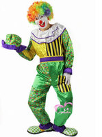 Free Shipping 2014 Hot Sale Funny Clown Costume Clown Cosplay Costume Party For Halloween Hats Clothes