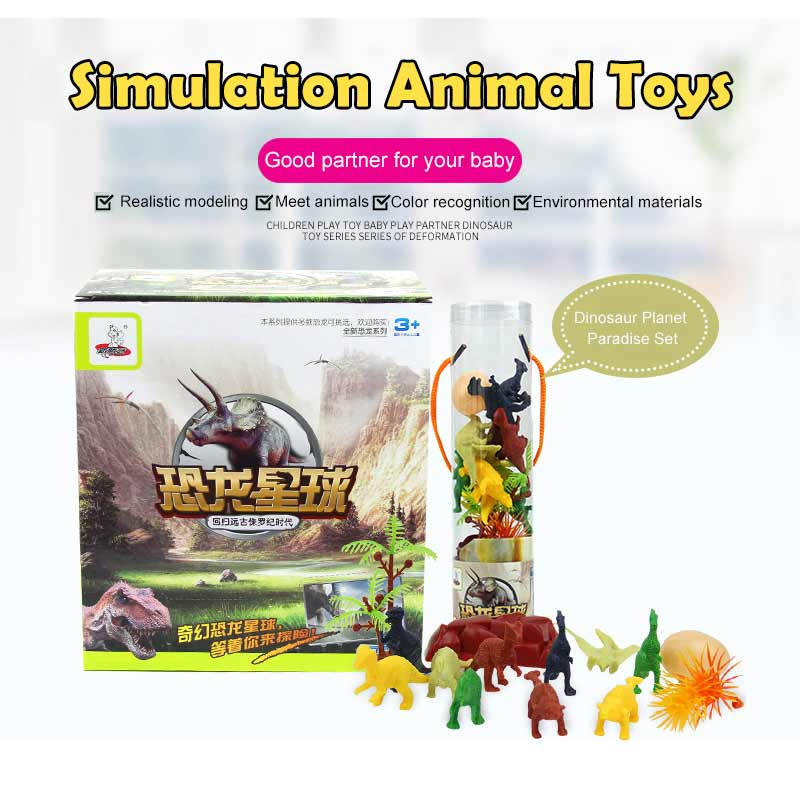 Action & Toy Figures Jurassic Dinosaur Toys Action Figures Dinosaur Models Rubber Simulation Baby Rattle Boy Kid Toys Gift
