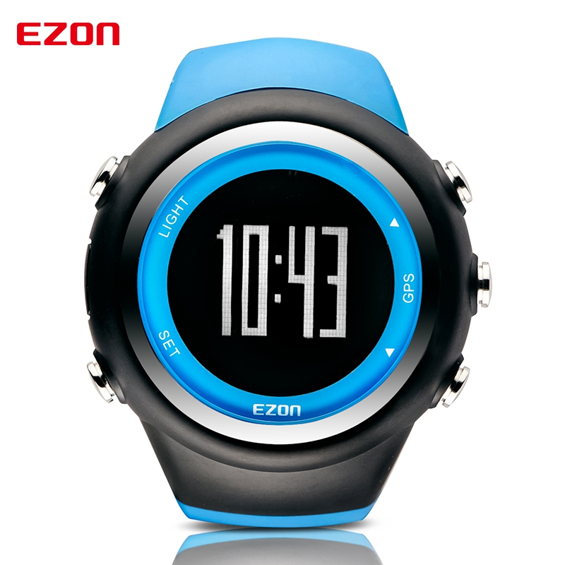 EZON High Quality Multifunctional GPS Running Sports Watch 5ATM Waterproof Pedometer Calorie Counter Digital Watch T031A03 ezon outdoor sports for smart gps watches running male multifunctional 5atm waterproof electronic watch g1 black