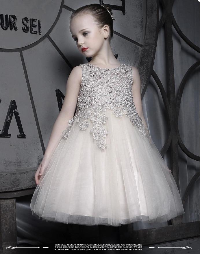ФОТО 2015 Summer 3-10 years Girl Dress Sleeveless Floral Children's Clothing High Waist Casual Girls wedding  Dresses evening dress