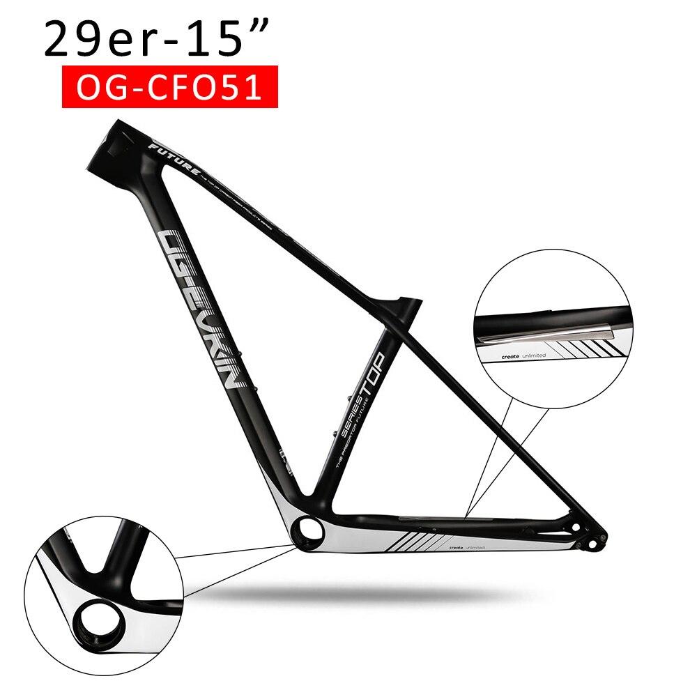 купить 2018 NEW T1000 29er Carbon mtb Frame UD Mountain bike Frame 29 UD PF30 Matt Glossy Thru Axle 142X12 Frameset 15