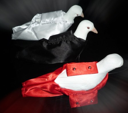 Professional Dove Bag and Dove Bag Holder Set - (Black/Red Color Available) - Close Up Magic, Magic Trick close-up