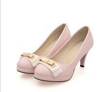 Осень женщины туфли на высоком каблуке кожа обувь дутый женщины в один обувь женщины высокая туфли на высоком каблуке обувь