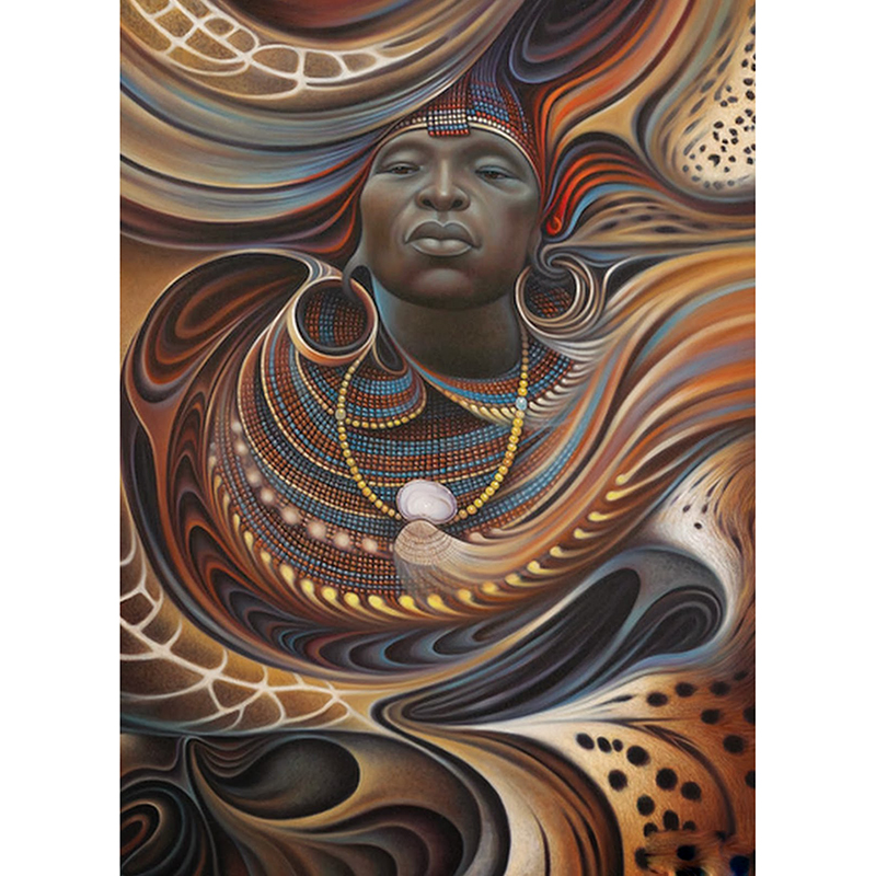 Home Decoration 5D Diy Diamond Painting Cross Stitch African women Diamond Embroidery Square Diamond Mosaic Pictures BD441