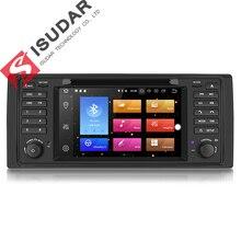 Isudar coche reproductor Multimedia GPS Android 8,0 Car Radio 1 Din para BMW/E53/X5/E39 Canbus cámara de Vista trasera micrófono USB DVR Wifi