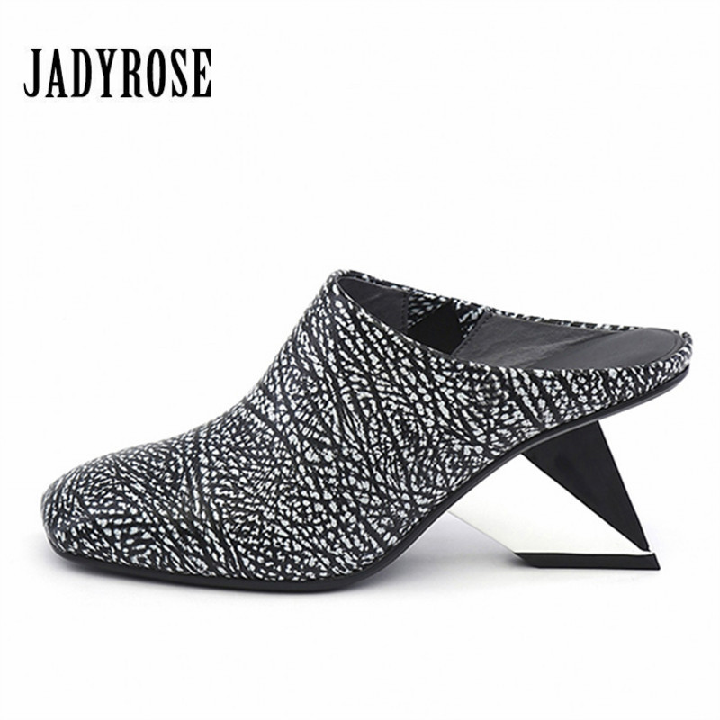 JADY ROSE Sexy Women Strange Heel Sandals Square Toe Wedge Shoes Woman Summer Slippers High Heel Gladiator Sandal Women Pumps new women sandals low heel wedges summer casual single shoes woman sandal fashion soft sandals free shipping