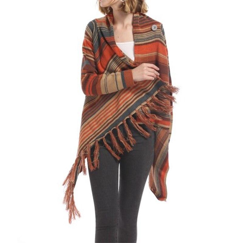 Tassel Cardigan Sweater Female Fashion Long Sleeve Cardigan Sweater Casual Loose Knitted Sweater