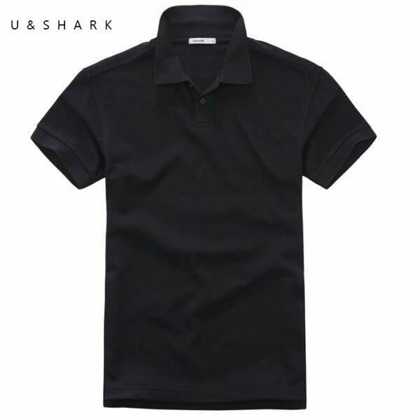 17187952510 Short Sleeve Pure Black Camisa Polo Shirt Men 2016 New Arrival Slim Fit  Casual Polo Homme Quick Dry Cotton Mens Polo Shirt Brand