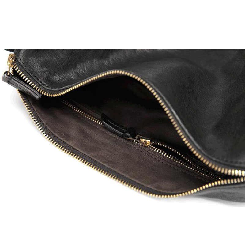 Sac cylindre en cuir AETOO sac à bandoulière pour homme sac croisé diagonale personnalité vintage sac pour hommes rétro décontracté première couche