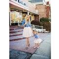 Бесплатная доставка милые 4 слоя туту тюль юбка для матери или дочь сказочный короткие юбки 45 см длинные