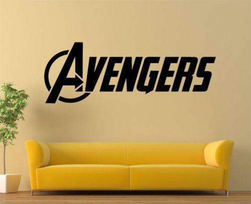 The Advengers Wall Sticker The Avengers Logo Huge Removeable Vinyl - Vinyl wall decals avengers