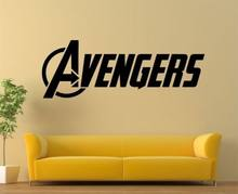 The Advengers Wall Sticker The Avengers logo Huge Removeable Vinyl Wall Decal Children Bedroom Home Decoration(China)