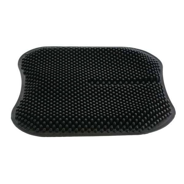 Silica Gel Car Seat Cushion Non Slip Chair Pad For Office Truck Home Breathable Silicone Massage Seat 16.5 Inch Black