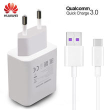 HUAWEI P10 Plus Fast Charger Mate 9 10 Pro Supercharge Quick Travel Wall Adapter 4.5V5A/5V4.5A Type-C 3.0 USB Cable 1M Original(China)