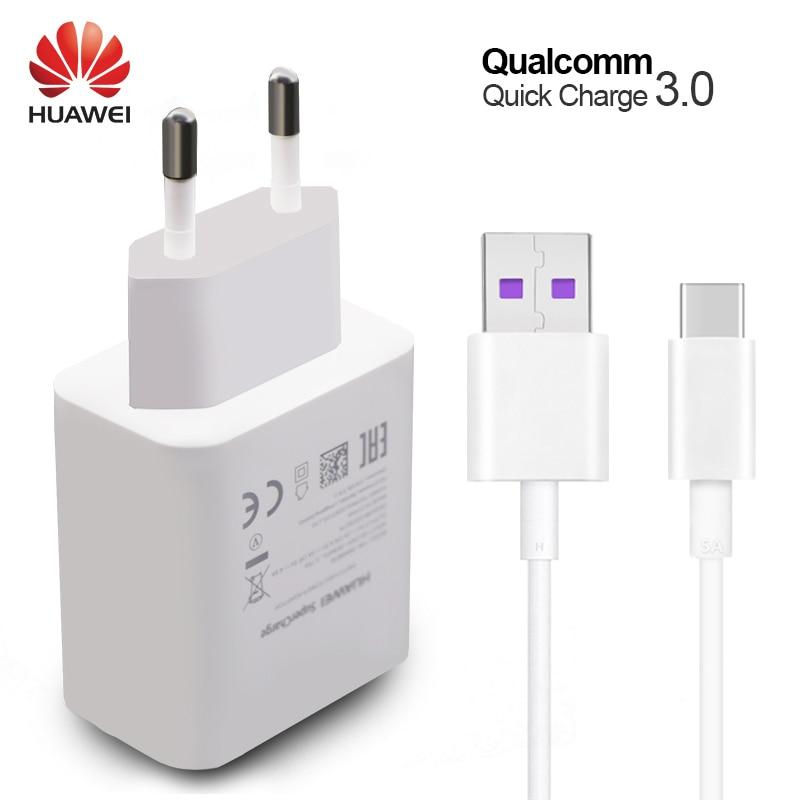 Huawei P10 Plus cargador rápido mate 9 10 Pro supercharge rápido de pared de viaje adaptador 4.5V5A/5V4. 5A tipo-c 3.0 cable USB 1 M original