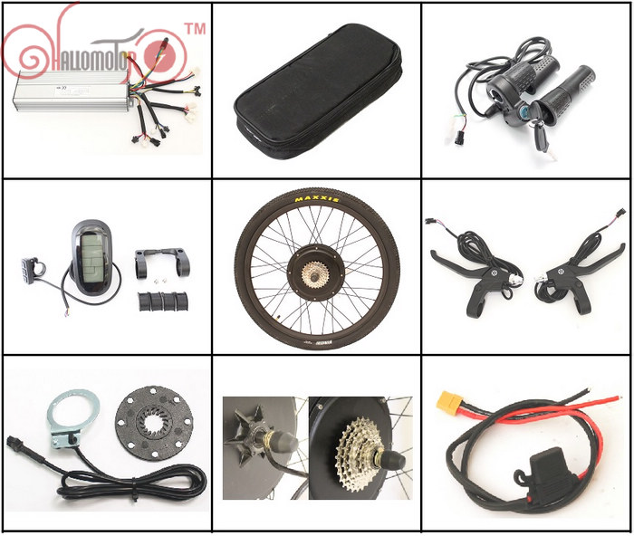 EU Free Tax 36/48V 1500W Ebike Hub Motor Conversion Kits 26 27.5 28 Controller LCD for e-Bicycle CONHISMOTOR Free Shipping eunorau 48v500w electric bicycle rear cassette hub motor 20 26 28 rim wheel ebike motor conversion kit