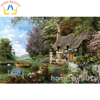 HOME BEAUTY 3d Diy Diamond Embroidery Coss Stitch Kits Diamond Mosaic Painting Paint Pictures Decor Landscape