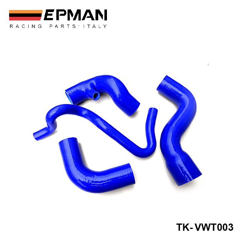 Silicone Intercooler Induction Intake Turbo Boost Hose Kit For VW Passat 1.8T B5 96-01 (4pcs) EP-VWT003 gplus silicone intercooler turbo pipe hose kit for audi a4 vw passat b5 1 8t 94 05