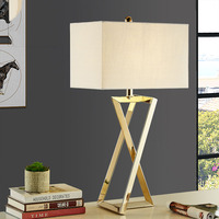 Modern Table Lamps For Living Room Home Led Desk Lamp Bedroom Reading E27 stainless steel Lampshade Abajur Lamparas De Mesa