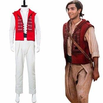 Nueva película Aladdin Cosplay Aladdin disfraz adulto Halloween carnaval disfraz hombres para fiesta de disfraces