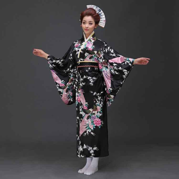 Rosa das Mulheres Japonesas Vintage Kimono Yukata Com Obi Vestido Cosplay Traje Floral Moda Nacional Tendências Vestido de Um Tamanho