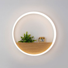 Modern Led Lamps for Bedroom Bedside Mirror Home Lighting Stairs Loft Wall Light Sconce White Iron Indoor Fixtures 110-220V