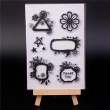 купить Rubber Silicone Clear Stamps for Scrapbooking Tampons Transparents Seal Background Stamp Card Making Diy flower по цене 253.62 рублей