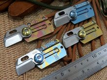 Popular Colorful Coin Dog Tag Folder Knife camping Survival Knives M390 blade titanium handle outdoor tactical hunting EDC tool