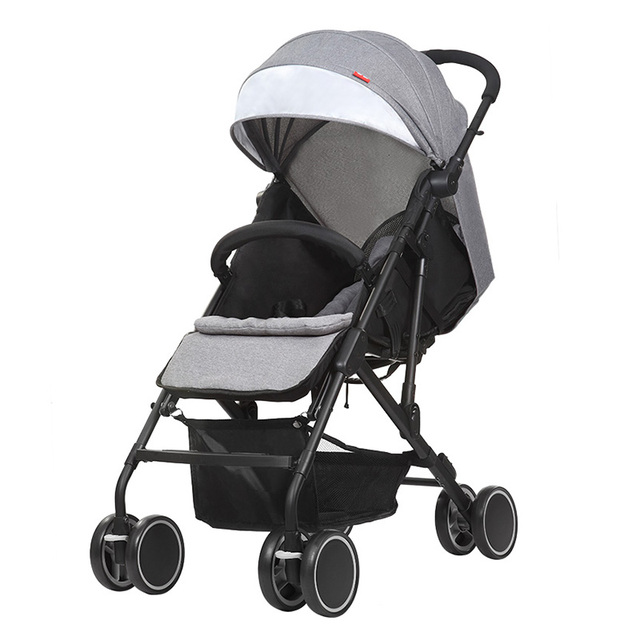 Hot Sale Baby Strollers Lightweight Foldable Pushchair Infant Carriage Travel System Carry-On Board Pram