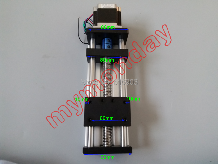 GGP 200mm Effective Stroke Travel Length 16mm Linear Guide Rail 1605 Ball Screw Linear Rail CNC