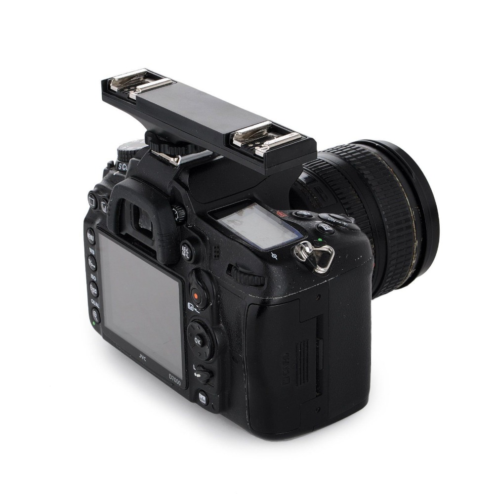 2 Flash Hot Shoe TTL Off Camera Speedlite Sync Cord Arm Bracket for Canon 750D 70D