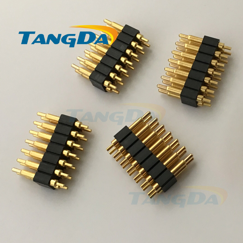 цена на pitch:2.54mm pogo pin connector 14PIN POGO PIN double row 14P pin double inserted plate welding 2*6 8 10 12 14 W.