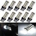10 X Ultra White T20 7440 7443 68-SMD Tail Brake Stop Turn Signal LED Light Bulb