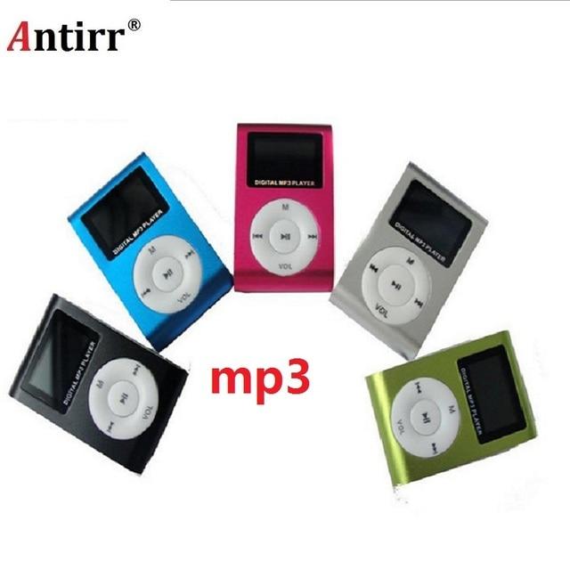 Superior Mini USB คลิปโลหะ MP3 Player สนับสนุนจอ lcd 32GB Micro SD TF Card Slot ดิจิตอล mp3 เพลงผู้เล่น