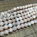 8-10 ММ 1 Strand/уп 100% Натуральный Розовый Лунный Камень Круглый Свободный Шарик Пряди Ювелирные Изделия Бисером